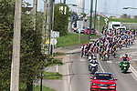 The peleton in action during La Fleche Wallonne Femmes 2018 running 118.5km from Huy to Huy, Belgium. 18/04/2018.<br /> Picture: ASO/Thomas Maheux | Cyclefile.<br /> <br /> All photos usage must carry mandatory copyright credit (&copy; Cyclefile | ASO/Thomas Maheux)