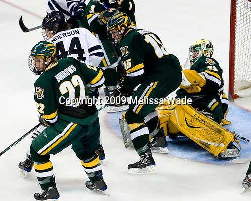 Josh Burrows (Vermont - 22), Jeff Anderson (Yale - 44), Kevan Miller (Vermont - 15), Rob Madore (Vermont - 29) - The University of Vermont Catamounts defeated the Yale University Bulldogs 4-1 in their NCAA East Regional Semi-Final match on Friday, March 27, 2009, at the Bridgeport Arena at Harbor Yard in Bridgeport, Connecticut.