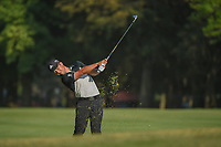 Xander Schauffele (USA) watches his approach shot on 18  during round 3 of the World Golf Championships, Mexico, Club De Golf Chapultepec, Mexico City, Mexico. 3/3/2018.<br /> Picture: Golffile | Ken Murray<br /> <br /> <br /> All photo usage must carry mandatory copyright credit (&copy; Golffile | Ken Murray)