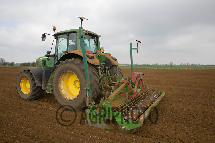 Working land down ready for drilling sugar beet<br /> Picture Tim Scrivener 07850 303986