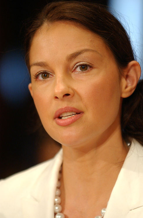 Actress Ashley Judd testifies before a Senate Foreign Relations Committee hearing, Thursday, which looked at the future of HIV/AIDS and an the initiative to develop an AIDS vaccine.  Judd is the global ambassador for Youth AIDS.