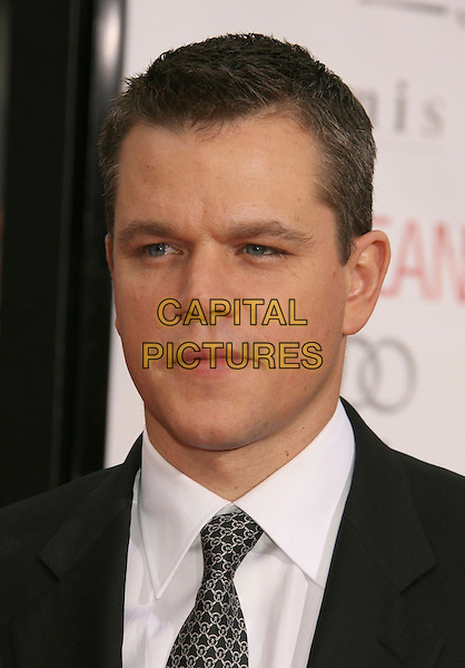 "MATT DAMON.""Ocean's Thirteen"" Los Angeles Premiere held at Grauman's Chinese Theatre, Hollywood, California, USA..June 5th, 2007.headshot portrait.CAP/ADM/RE.©Russ Elliot/AdMedia/Capital Pictures"