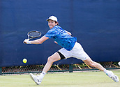 June 15th 2017, Nottingham, England; ATP Aegon Nottingham Open Tennis Tournament day 6;  John-Patrick Smith in action in his second round match against John Millman of Australia
