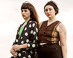 Raleigh, North Carolina- August 11, 2017<br /> <br /> (left to right) Allison and Katie Crutchfield of Waxahatchee.<br /> <br /> Ex Hex and Waxahatchee played an outdoor concert with MERGE Records label mates Superchunk at the North Carolina Museum of Art. (Photo by Jeremy M. Lange for The New York Times)