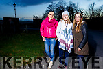 Concerned residents Kasia Hanas Wolska, Fiona Enright and Eileen O'Flaherty at Cahirdown Wood Estate in Listowel with no lighting to the entrance to their estate on Thursday evening.