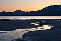 Sunset along the tidal flats of Hartney Bay, Copper River Delta, Prince William Sound, Alaska.