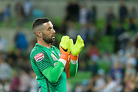Melbourne, 28 October 2016 - DEAN BOUZANIS (20) of Melbourne City claps after his team won the round 4 match of the A-League between Melbourne City and Adelaide United at AAMI Park, Melbourne, Australia. Melbourne won 2-1 (Photo Sydney Low / sydlow.com)