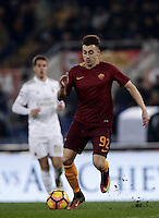 Calcio, Serie A: Roma vs Milan. Roma, stadio Olimpico, 12 dicembre 2016.<br /> Roma&rsquo;s Stephan El Shaarawy in action during the Italian Serie A football match between Roma and AC Milan at Rome's Olympic stadium, 12 December 2016.<br /> UPDATE IMAGES PRESS/Isabella Bonotto
