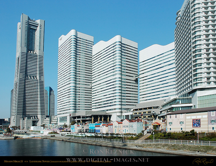 Minato Mirai 21 Landmark Tower 300 meters Tallest Building in Japan New Harbor Yokohama Japan