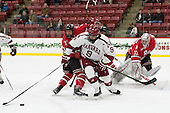 Luke Esposito (Harvard - 9) - The Harvard University Crimson defeated the visiting Rensselaer Polytechnic Institute Engineers 5-2 in game 1 of their ECAC quarterfinal series on Friday, March 11, 2016, at Bright-Landry Hockey Center in Boston, Massachusetts.