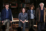 "Hugh Dancy, Stockard Channing, Megalyn Echikunwoke and John Tillinger during the Opening Night Curtain Call Bows for the Roundabout Theatre Company production of ""Apologia"" on October 16, 2018 at the Laura Pels Theatre in New York City."