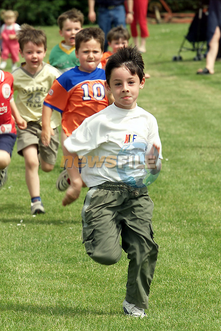 Ryan Callaghan pictured winning 1st place in the boys u-6 1oo meters race at the Mell Parish sports day..Picture: Arthur Carron/Newsfile