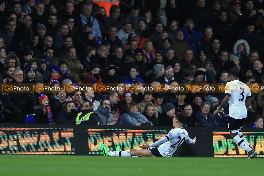 Dele Alli of Tottenham Hotspur celebrates his goal late into the game during Crystal Palace vs Tottenham Hotspur at Selhurst Park
