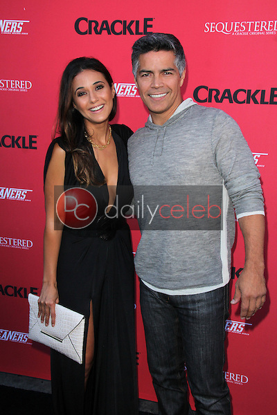 Emmanuelle Chriqui, Esai Morales<br /> at the Crackle Summer Premieres of 'Sequestered' and 'Cleaners' 1 OAK L.A, West Hollywood, CA 08-14-14<br /> David Edwards/Dailyceleb.com 818-249-4998