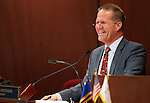 Nevada Lt. Gov. Mark Hutchison works on the Senate floor at the Legislative Building in Carson City, Nev., on Friday, May 22, 2015. <br /> Photo by Cathleen Allison