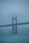 San Francisco, California: Fog and Golden Gate Bridge. Photo copyright Lee Foster. Photo # casanf104014