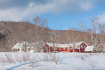 Winter in Quechee village, Hartford, VT, USA