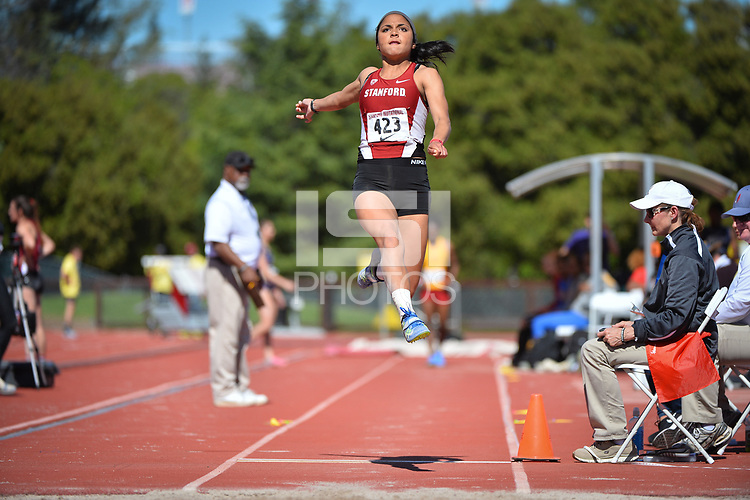 Stanford, Ca - Friday March 31, 2017: Daryth Gayles at the Stanford Invitational at Cobb Field.