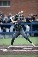 Michigan State Spartans catcher Nic Lacayo (27) at bat in the NCAA baseball game against the Michigan Wolverines on May 7, 2019 at Ray Fisher Stadium in Ann Arbor, Michigan. Michigan defeated Michigan State 7-0. (Andrew Woolley/Four Seam Images)