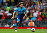 Arsenal's Nacho Monreal in action during the premier league match at Anfield Stadium, Liverpool. Picture date 27th August 2017. Picture credit should read: Paul Thomas/Sportimage
