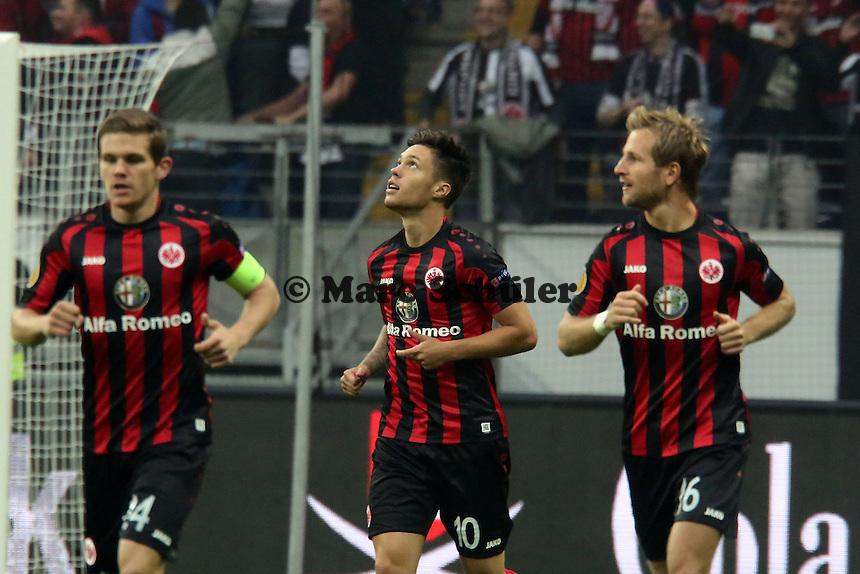 Vaclav Kadlec (Eintracht) jubelt ueber sein Tor zum 1:0 - 1. Spieltag der UEFA Europa League Eintracht Frankfurt vs. Girondins Bordeaux