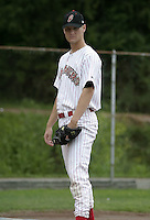 July 14, 2004:  Pitcher Craig Molldrem of the Jamestown Jammers, Single-A NY-Penn League affiliate of the Florida Marlins, during a game at Russell Diethrick Park in Jamestown, NY.  Photo by:  Mike Janes/Four Seam Images