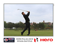 Matthew Lamb (AM) playing with Marcus Kinhult (SWE) on the 10th tee during the Pro-Am of the Betfred British Masters 2019 at Hillside Golf Club, Southport, Lancashire, England. 08/05/19<br /> <br /> Picture: Thos Caffrey / Golffile<br /> <br /> All photos usage must carry mandatory copyright credit (© Golffile | Thos Caffrey)