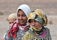 Portrait of young women farmers in the Atlas mountains