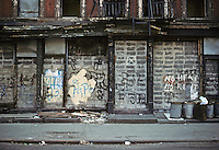 New York City: Lower East side street scene, 7th St., between Aves. C & D. Photo '78.