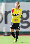Stockholm 2015-07-11 Fotboll Damallsvenskan Hammarby IF DFF - Vittsj&ouml; GIK :  <br /> Hammarbys m&aring;lvakt Sofia Lundgren reagerar under matchen mellan Hammarby IF DFF och Vittsj&ouml; GIK <br /> (Foto: Kenta J&ouml;nsson) Nyckelord:  Fotboll Damallsvenskan Dam Damer Zinkensdamms IP Zinkensdamm Zinken Hammarby HIF Bajen Vittsj&ouml; GIK portr&auml;tt portrait