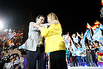 Mariano Rajoy, Spain's acting Prime Minister of the caretaker government and Popular Party leader and party candidate and Cristina Cifuentes Spanish policy of the Popular Party and President of the Community of Madrid during the party final campaign meeting. June 24,2016. (ALTERPHOTOS/Acero)