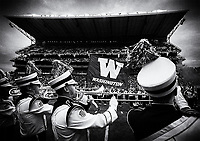 The Husky Band plays on as the Dawgs enter Husky Stadium.