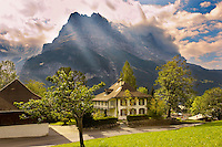 Grindelwald house looking towards the Eiger - Grindelwald Switzerland