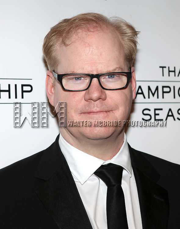 Jim Gaffigan.attending the Opening Night Performance After Party for  'That Championship Season' at Gotham Hall in New York City.