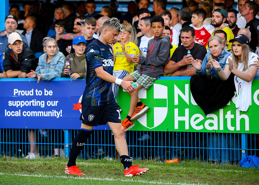 Leeds United's Ezgjan Alioski leaves the field<br /> <br /> Photographer Alex Dodd/CameraSport<br /> <br /> Football Pre-Season Friendly - Guiseley v Leeds United - Thursday July 11th 2019 - Nethermoor Park - Guiseley<br /> <br /> World Copyright © 2019 CameraSport. All rights reserved. 43 Linden Ave. Countesthorpe. Leicester. England. LE8 5PG - Tel: +44 (0) 116 277 4147 - admin@camerasport.com - www.camerasport.com