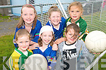 ON THE BALL: Young fooballers from Iveragh enjoying the Kerry GAA VHI Cul Camp in Renard on Friday last..Front L/r. Katie Conway (Renard), Laura McCarthy (Caherciveen), Claire Sugrue (Caherciveen)..Back L/r. Megan McCrohan (Renard), Kaylin O'Sullivan (Renard) and Caoimhe Teehan (Renard).   Copyright Kerry's Eye 2008