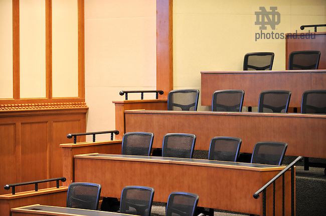 Patrick McCartan Courtroom in the Eck Hall of Law..Photo by Matt Cashore/University of Notre Dame