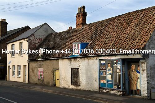 General village store shop houses closed down. Chatteris. Cambridgeshire UK 2008.