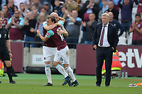 James Collins of West Ham and Mark Noble of West Ham during West Ham United vs Everton, Premier League Football at The London Stadium on 13th May 2018