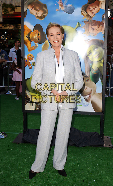 JULIE ANDREWS.Attends The Dreamworks' Shrek 2 World Premiere held at Mann Village Theatre in Westwood, California.May 8,2004.full length, full-length, gray, grey suit.www.capitalpictures.com.sales@capitalpictures.com.©Capital Pictures