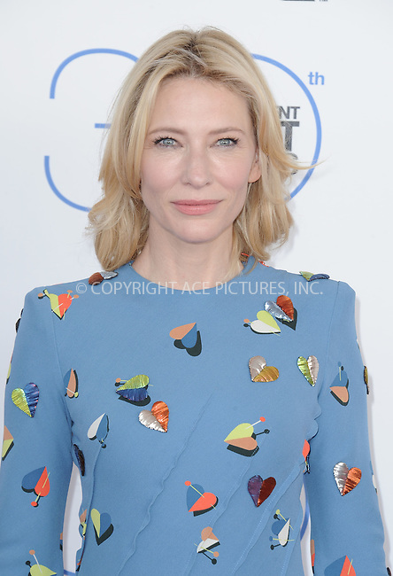 WWW.ACEPIXS.COM<br /> <br /> February 21 2015, LA<br /> <br /> Cate Blanchett arriving at the 2015 Film Independent Spirit Awards at Santa Monica Beach on February 21, 2015 in Santa Monica, California.<br /> <br /> By Line: Peter West/ACE Pictures<br /> <br /> <br /> ACE Pictures, Inc.<br /> tel: 646 769 0430<br /> Email: info@acepixs.com<br /> www.acepixs.com