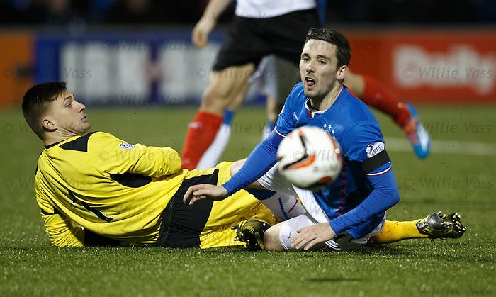 Nicky Clark folied by keeper Danny Rodgers