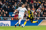 Lucas Vazquez of Real Madrid (L) in action during the Europe Champions League 2017-18 match between Real Madrid and Borussia Dortmund at Santiago Bernabeu Stadium on 06 December 2017 in Madrid Spain. Photo by Diego Gonzalez / Power Sport Images