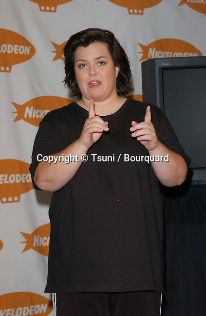 Rosie O'Donnell, host of 15th Annual Nickelodeon Kid's Choice Awards at The Barker Hanger in Santa Monica, Ca., 4/20/02.           -            ODonnellRosie_01.jpg