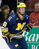 Brandon Burlon (Michigan - 6) - The Boston University Terriers defeated the University of Michigan Wolverines 3-2 on Saturday, October 24, 2009, at Agganis Arena in Boston, Massachusetts.