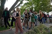 Youth climate activist Greta Thunberg departs press conference on climate change on Capitol Hill in Washington D.C., U.S. on September 17, 2019.<br /> <br /> Credit: Stefani Reynolds / CNP