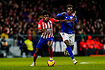 Thomas Teye Partey of Atletico de Madrid (L) is tackled by Inaki Williams Arthuer of Athletic de Bilbao during the La Liga 2018-19 match between Atletico de Madrid and Athletic de Bilbao at Wanda Metropolitano, on November 10 2018 in Madrid, Spain. Photo by Diego Gouto / Power Sport Images