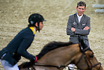 JETS riders attend Hong Kong Jockey Master Class held by Ludger Beerbaum at the main arena during the Longines Hong Kong Masters on 14 February 2015, at the Asia World Expo, outskirts Hong Kong, China. Photo by Johanna Frank / Power Sport Images