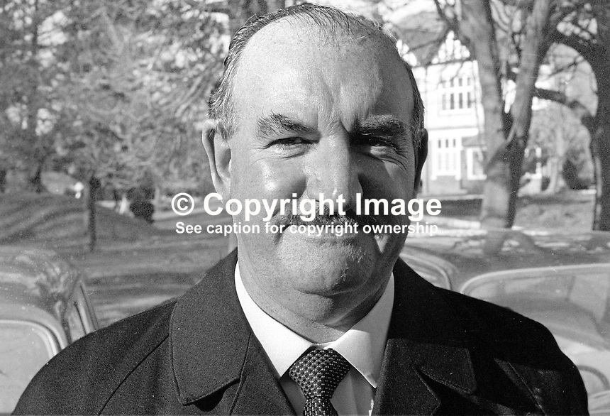 Tom Glover, prominent member, Ulster Vanguard Movement and Loyalist Association of Workers, 197200000126..Copyright Image from Victor Patterson, 54 Dorchester Park, Belfast, United Kingdom, UK...For my Terms and Conditions of Use go to http://www.victorpatterson.com/Victor_Patterson/Terms_%26_Conditions.html