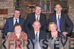 Kerry INTO honouring retired members Eileen Fleming and Maura Gleeson with a function in the Dromhall Hotel, Killarney on Friday night front row l-r: Eileen Fleming Tureencahill NS, Gerard Lucey Chaiperson, Maura Gleeson Gneeveguilla. Back row: Seamus Long INTO district representative, Diarmuid McCarthy Branch Secretary and John Daly BFC INTO...